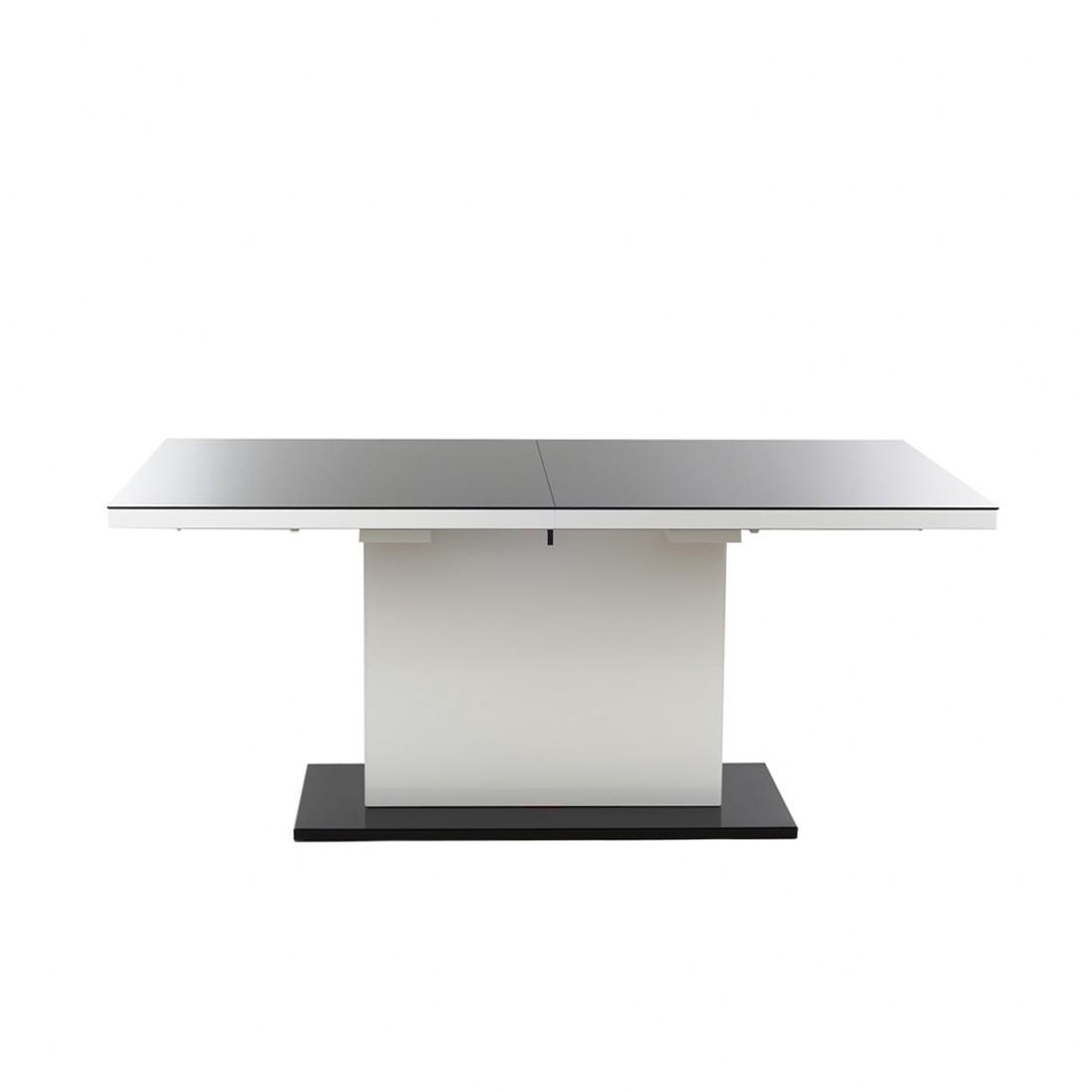 esstisch corana mit auszugsfunktion hochglanz wei. Black Bedroom Furniture Sets. Home Design Ideas