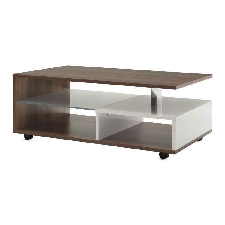 Table basse Sundsvall - Verre dépoli, Home Design