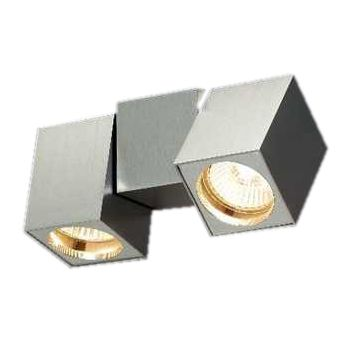 energie  C, Wandlamp Cub - 2 lichtbronnen - vierkant, draaibaar - aluminium, Paul Neuhaus