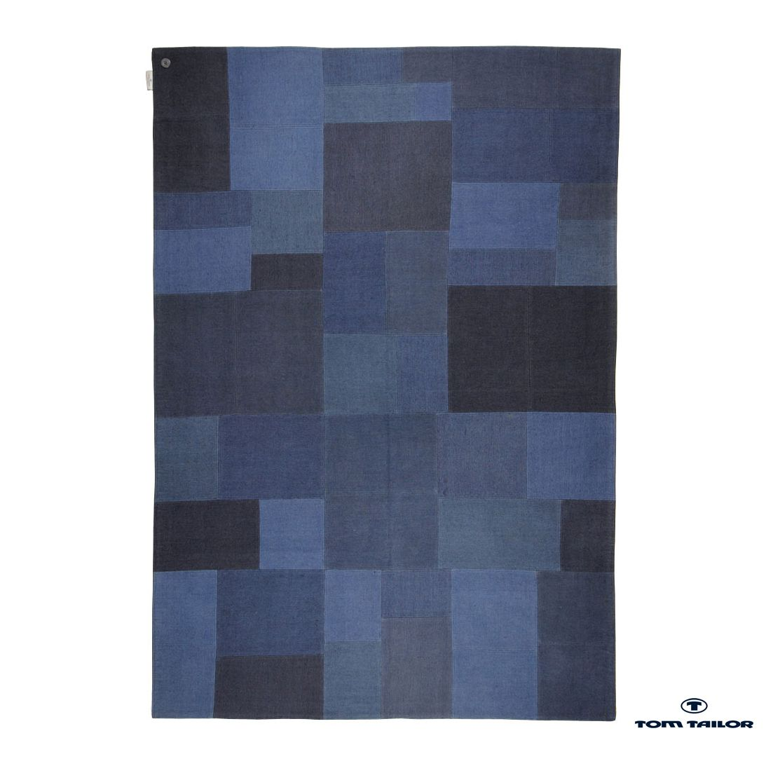 Tapijt Patch denim - blauw - 190x290cm, Tom Tailor