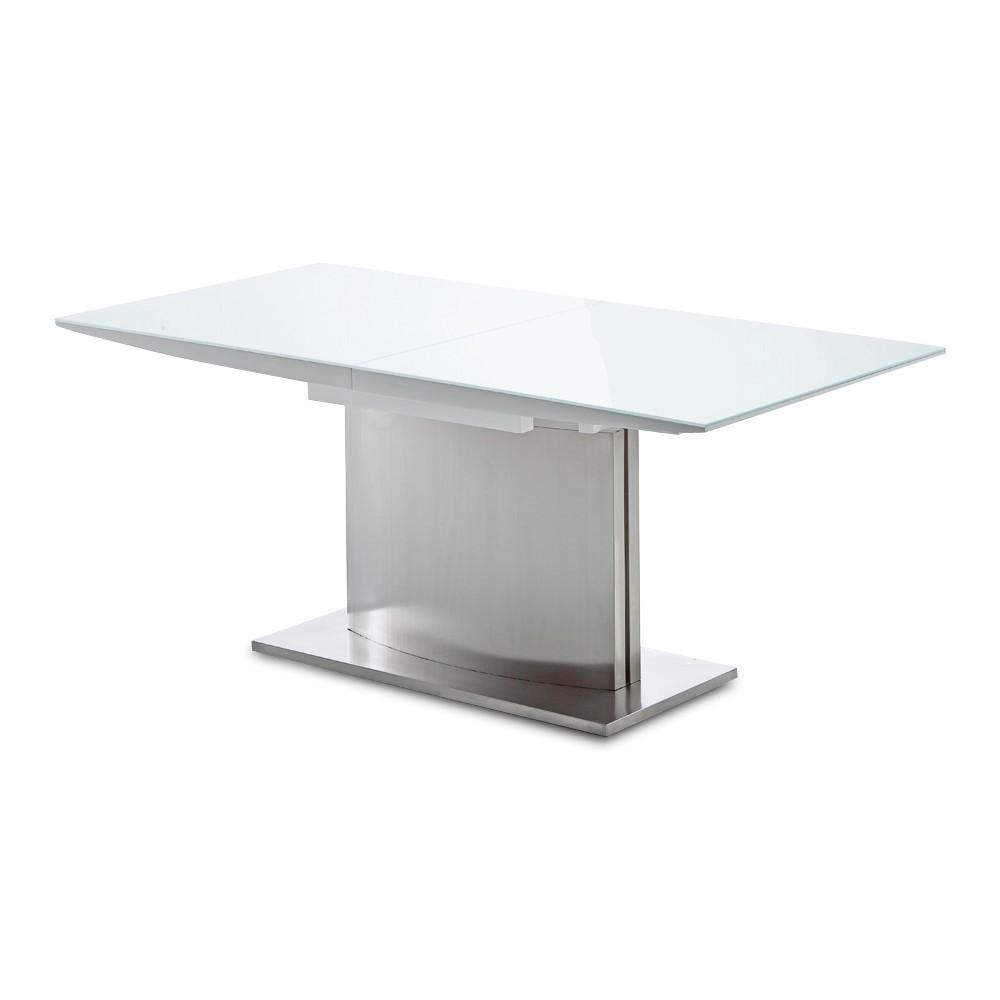 Eliho tafel - hoogglans wit - uitschuifbaar, California