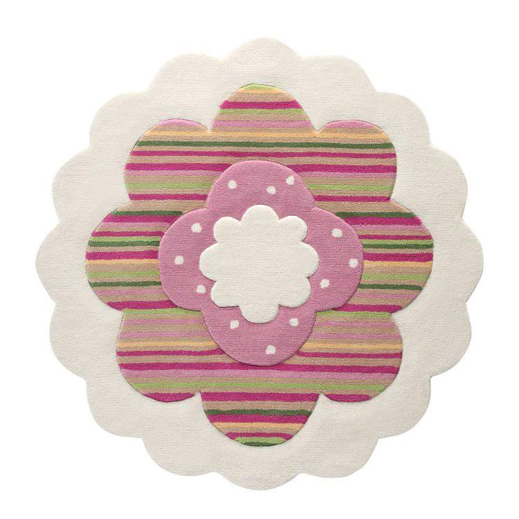 Tapijt in bloemenvorm   met de hand geweven   Bont_ Esprit Home