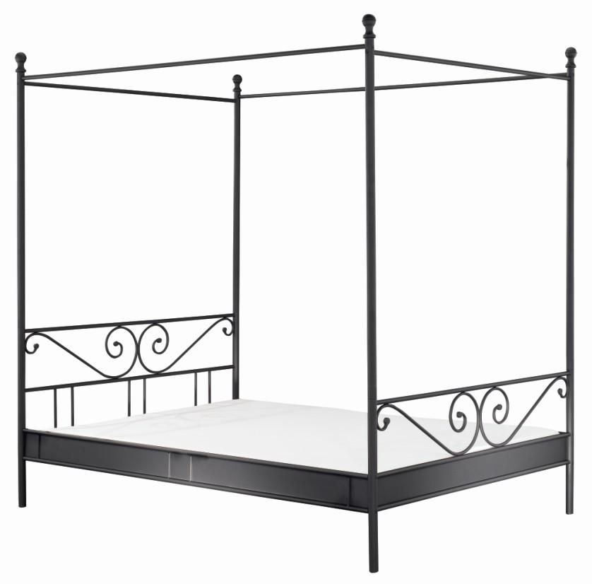 Himmelbett Altoona - schwarz matt, Maison Belfort