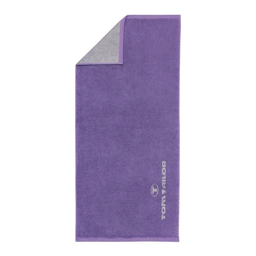 Home 24 - Serviette éponge tom tailor avec logo jaquard - violet, tom tailor