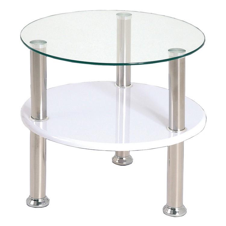 Tavolino Bronx - Metallo, acciaio inox satinato/2 ripiani, Home Design