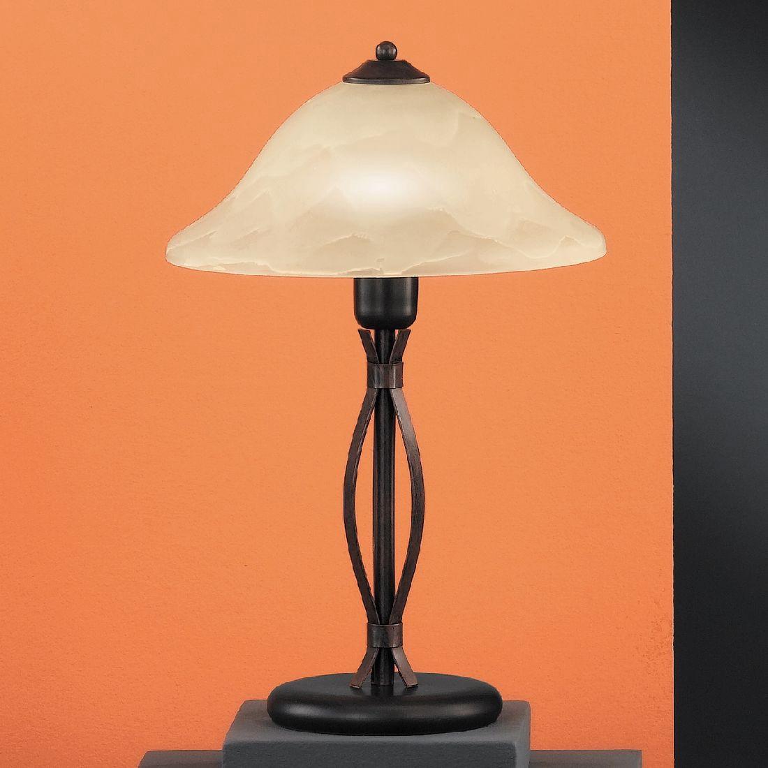 EEK A++, Tischleuchte Colonial - Gerade - Höhe: 46 cm, Honsel