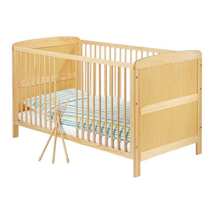 Babybed Jakob - deels massief grenenhout - houtkleurig, Pinolino