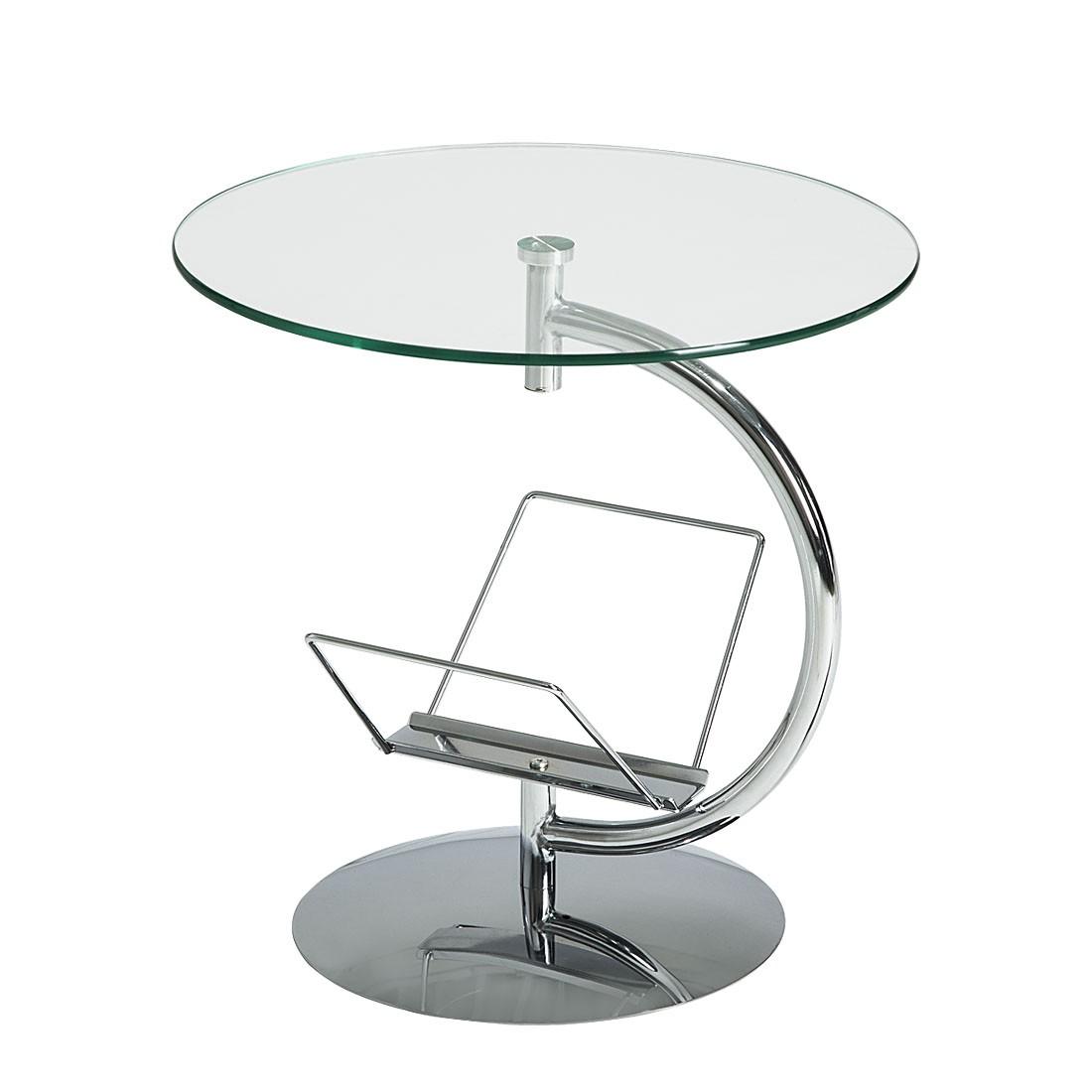 Tavolino Jens - Piano d'appogio in vetro infrangibile, Fredriks