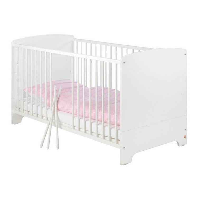 Babybett Jil - Kiefer teilmassiv - Weiß, Pinolino