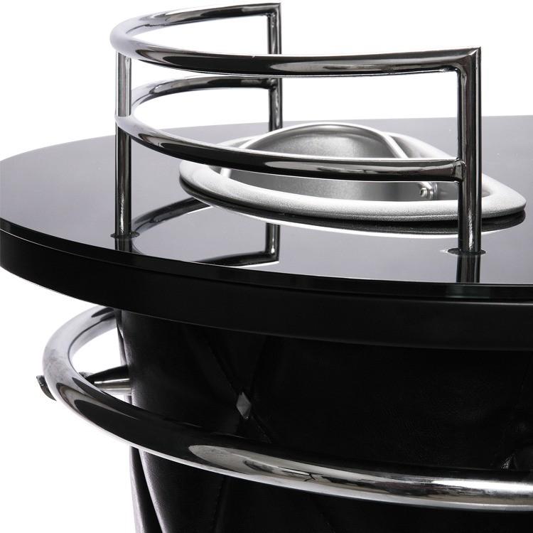 Glasplaat Rockstar - zwart veiligheidsglas, Kare Design
