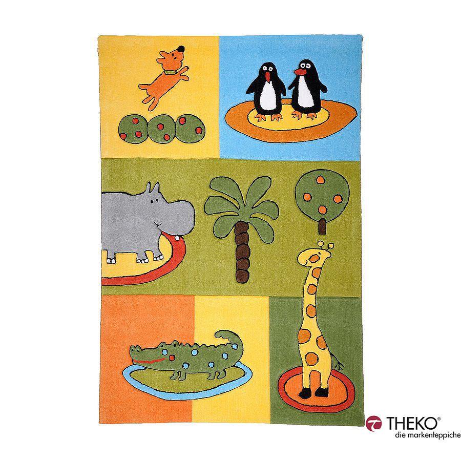 Home 24 - Tapis pour enfant maui - monde animal - 100 x 160 cm, theko die markenteppiche