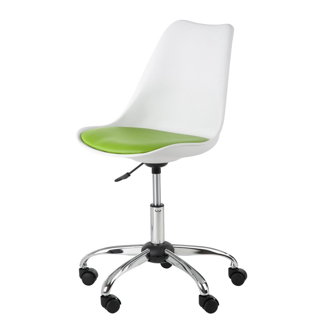 Home 24 - Chaise pivotante pour enfant lana blanche / vert pomme, home24 office