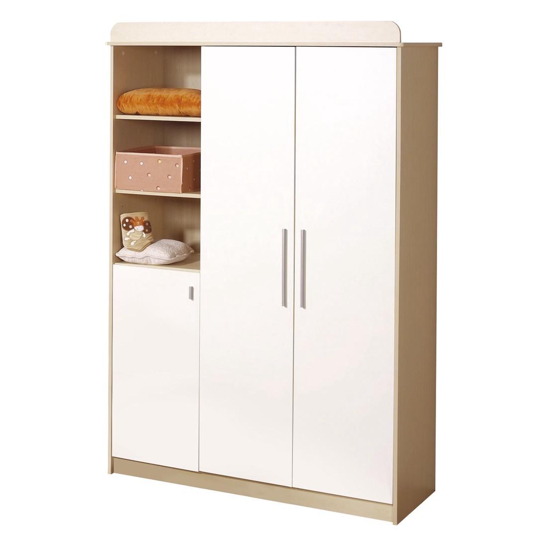 Armoire à vêtements Lena - Erable / Blanc, Roba