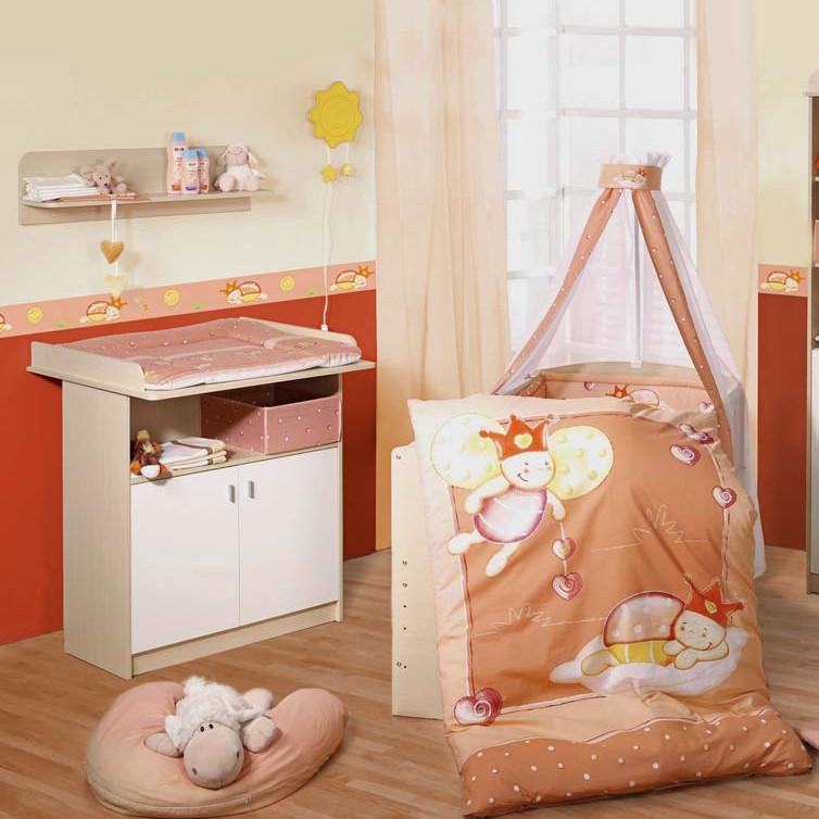 Ensemble économique Lena (2 éléments) - Lit bébé et meuble à langer - Erable / Blanc, Roba
