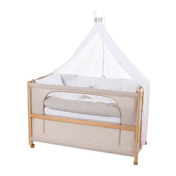 Home 24 - Room bed ourson - hêtre partiellement massif - beige, roba