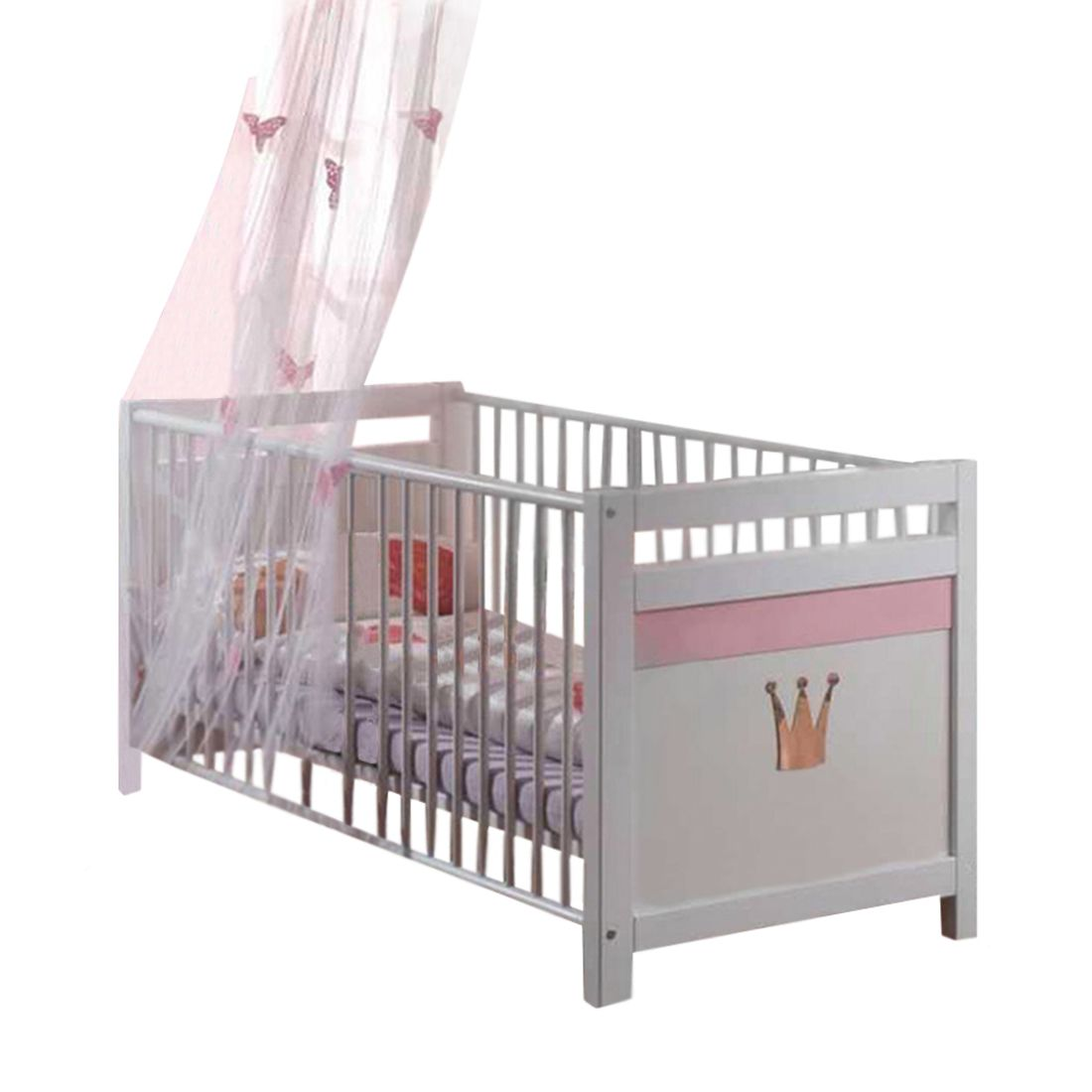 Babybed Liss   wit roze_ Wimex