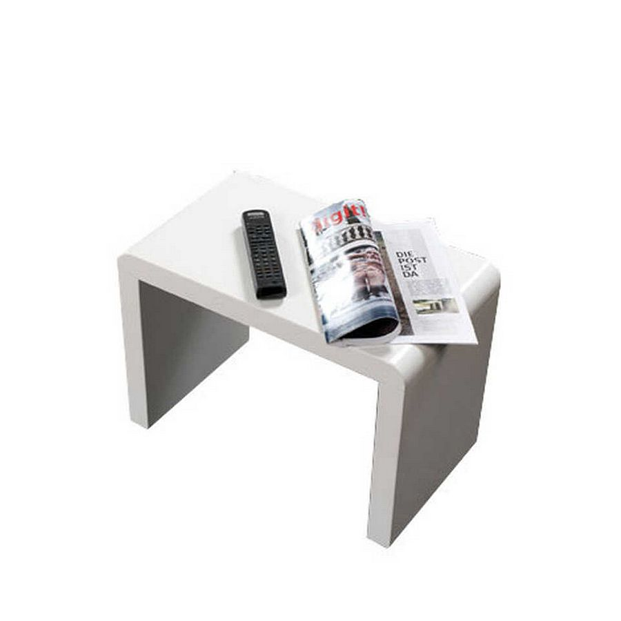 Table d'appoint Paul - Blanc - Grand format, Home Design