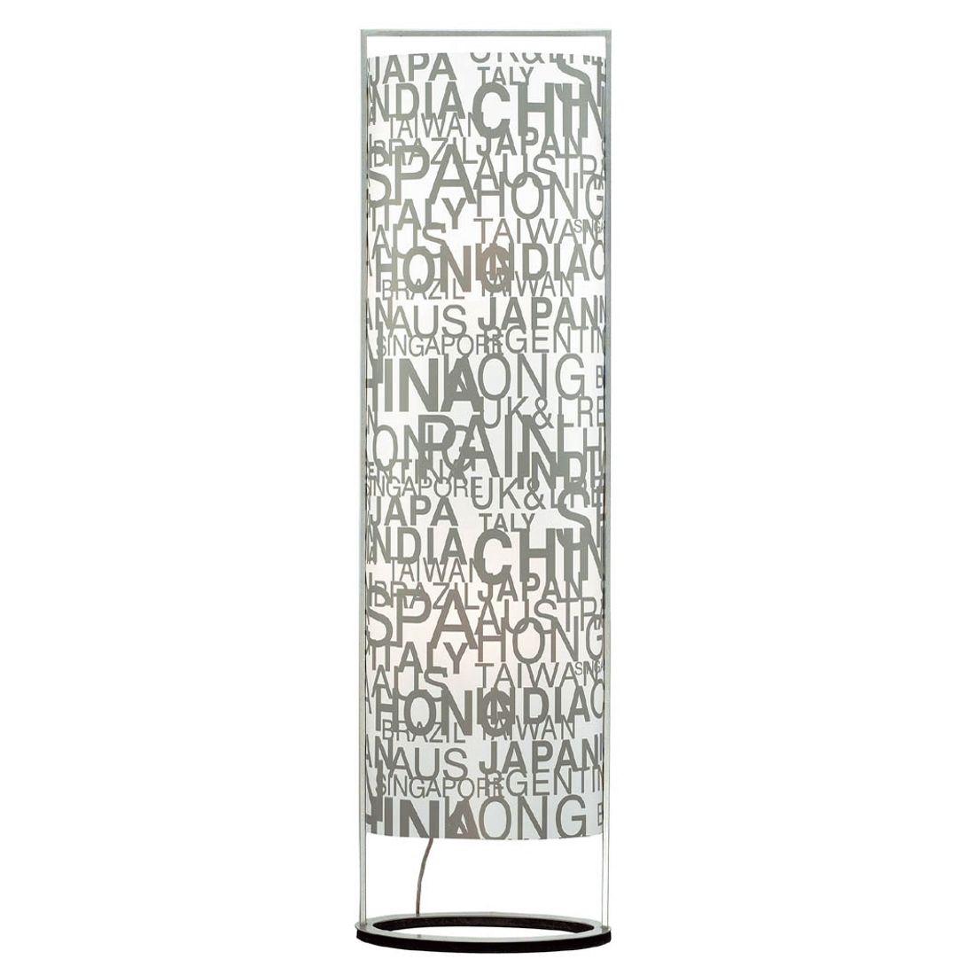 EEK A++, Lampadaire Sign - 1 ampoule - Caractères décoratifs - Métal / Plastique - Blanc / Gris, Pau