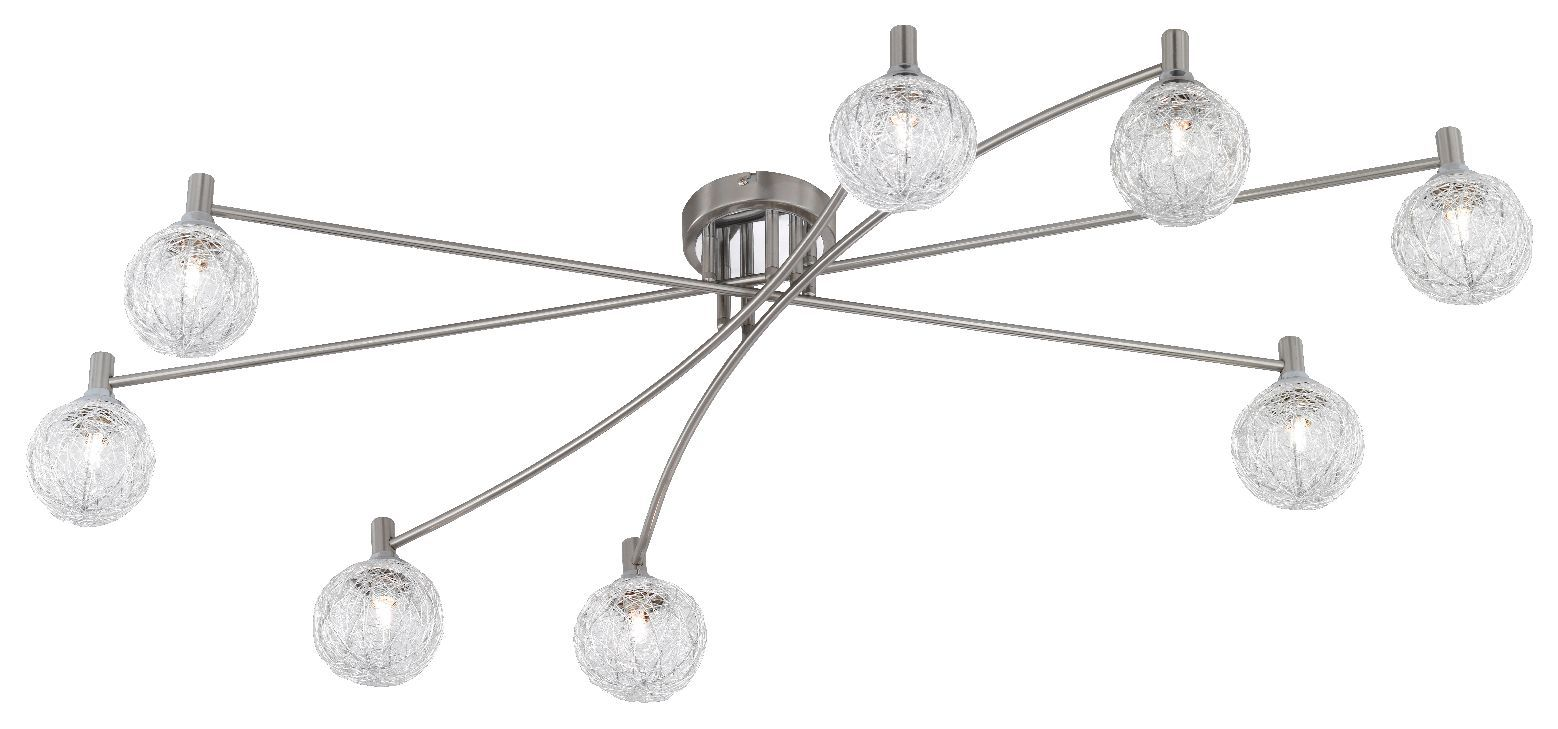 energie  B, Plafondlamp Womble - 8 lichtbronnen, Paul Neuhaus