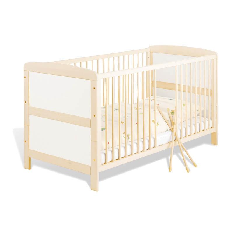 Lit bébé Florian - Blanc / Couleur bois, Pinolino