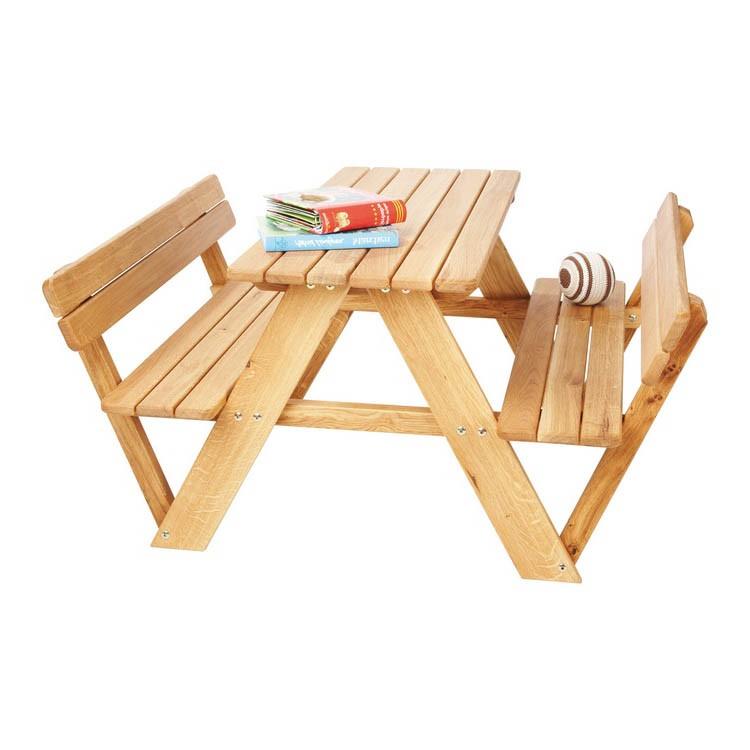 Home 24 - Table enfant lilli - 4 places - chêne massif, pinolino