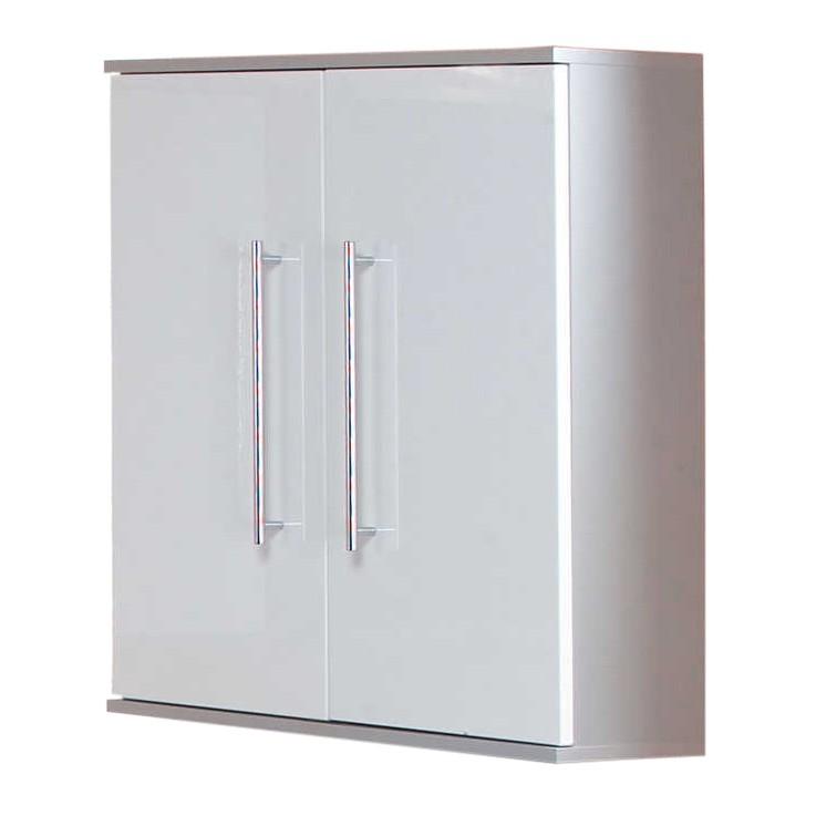 Armoire Ponza - 2 portes - Blanc / Gris, Kesper Badmöbel