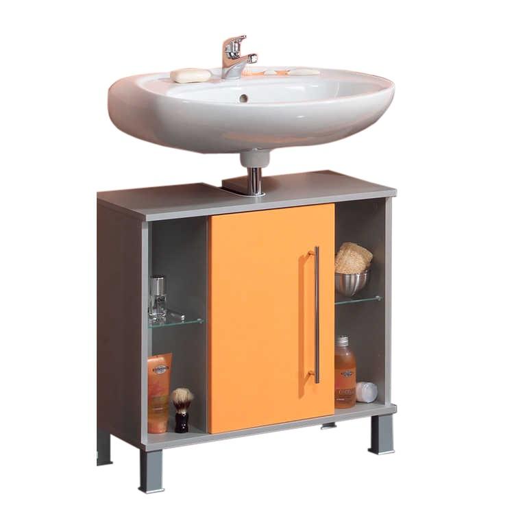 Armadietto da lavandino Ponza - Arancione, Kesper Badmöbel
