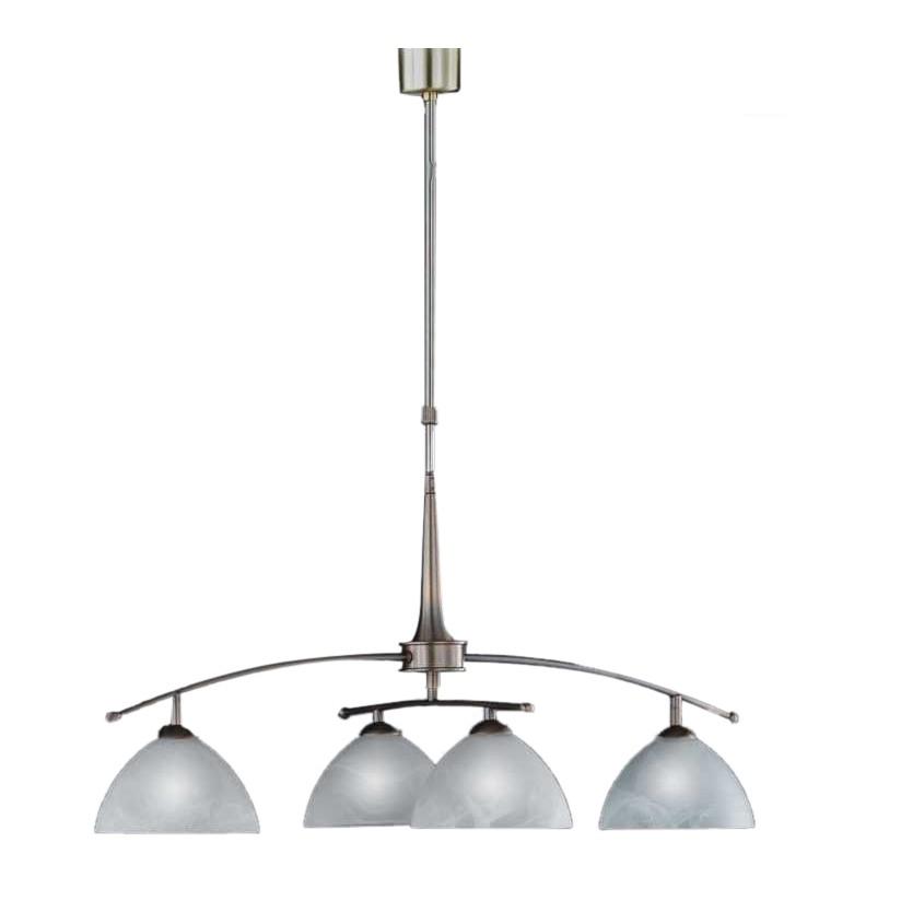 energie  A++, Hanglamp Prestige - 4 lichtbronnen - oud messing, Honsel