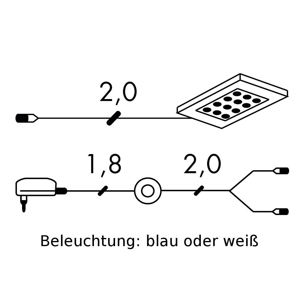 energie  A+, LED-verlichting Puna (1-delige set) - inclusief transformator en snoer - wissellicht verlichting, loftscape