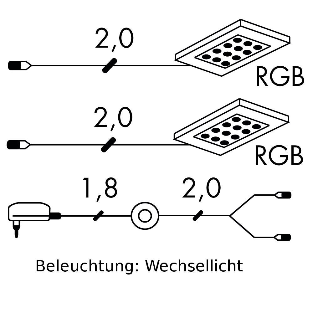 Home 24 - Eek a+, eclairage led puna (lot de 2) - transformateur et câble d alimentation inclus - eclairage, lumière modulée, loftscape