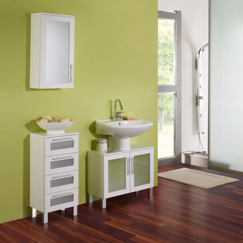 Set per il bagno Richmond (3 pezzi) - Bianco, Aqua Suite
