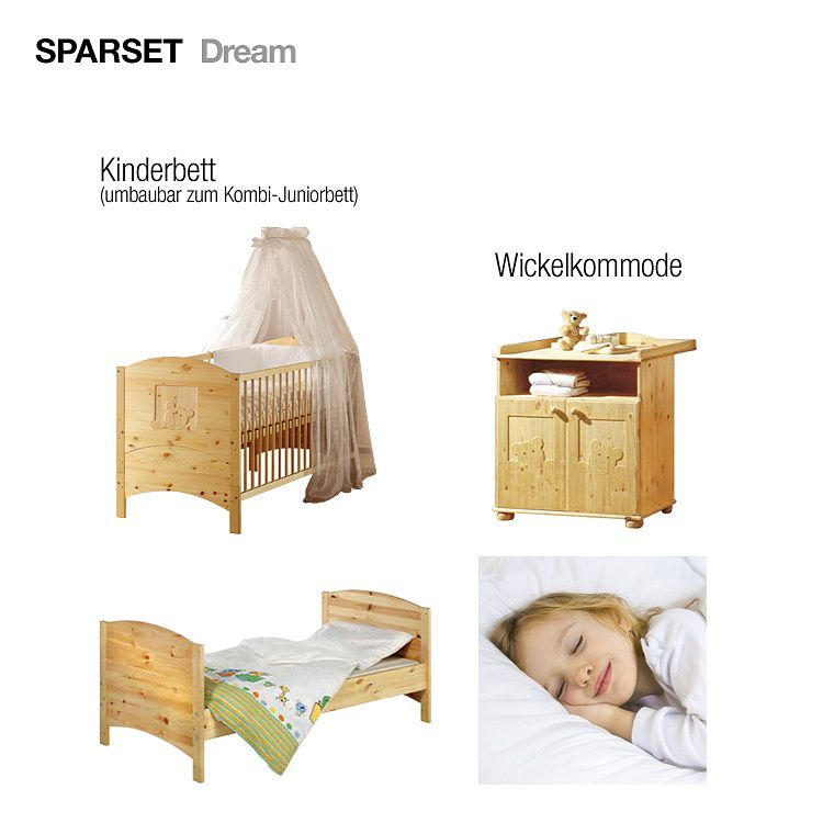 24 sparen babyzimmer dream 2 teilig nur 449 99 cherry m bel home24. Black Bedroom Furniture Sets. Home Design Ideas