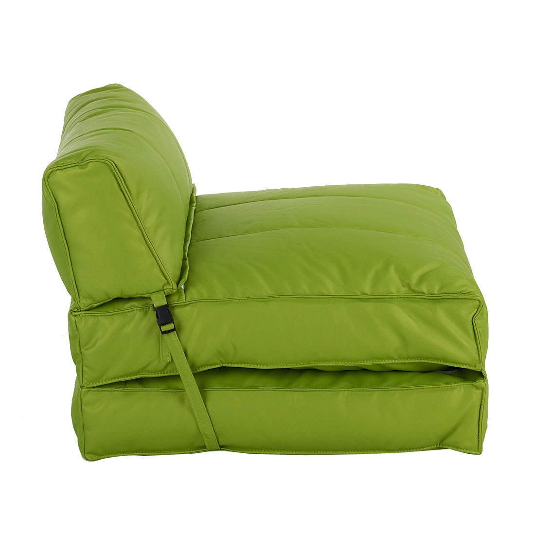 Fauteuil convertible Caneva - Cuir synthétique vert, mooved