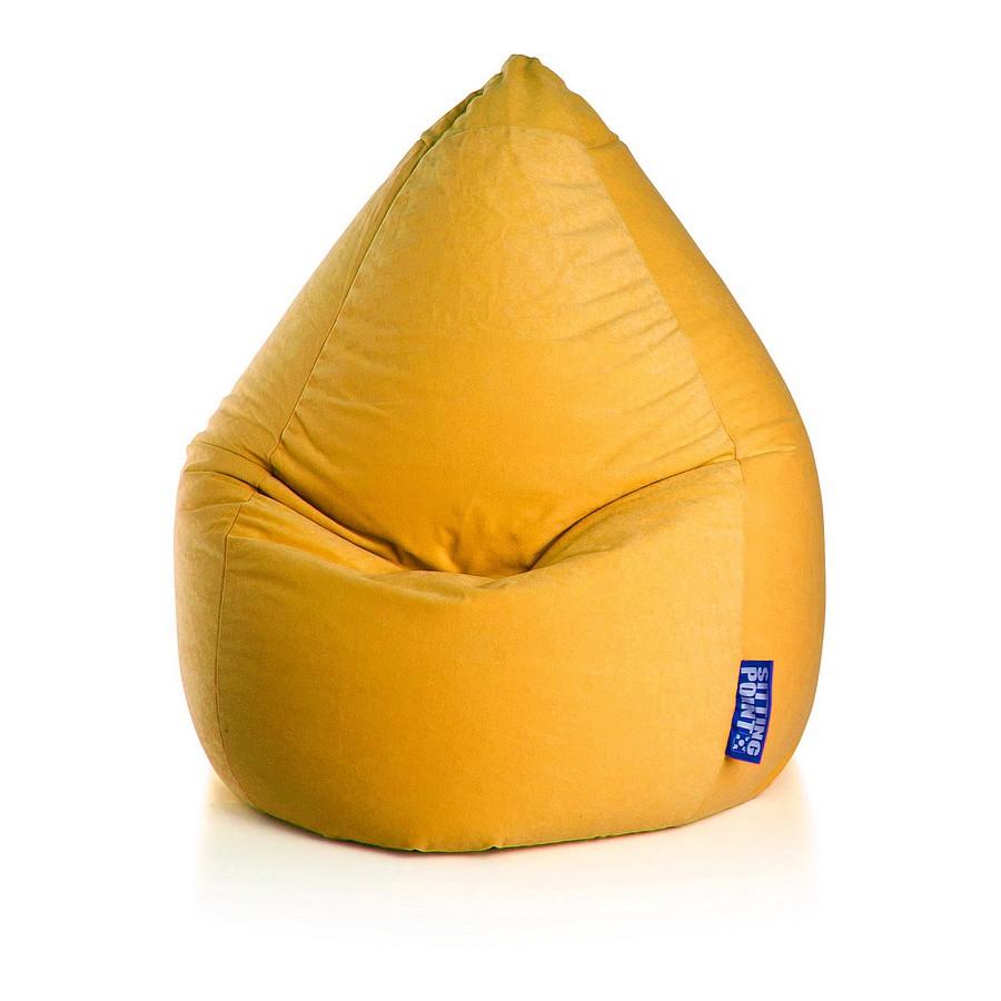 Sitzsack Easy XL - Microfaser - Gelb, SITTING POINT