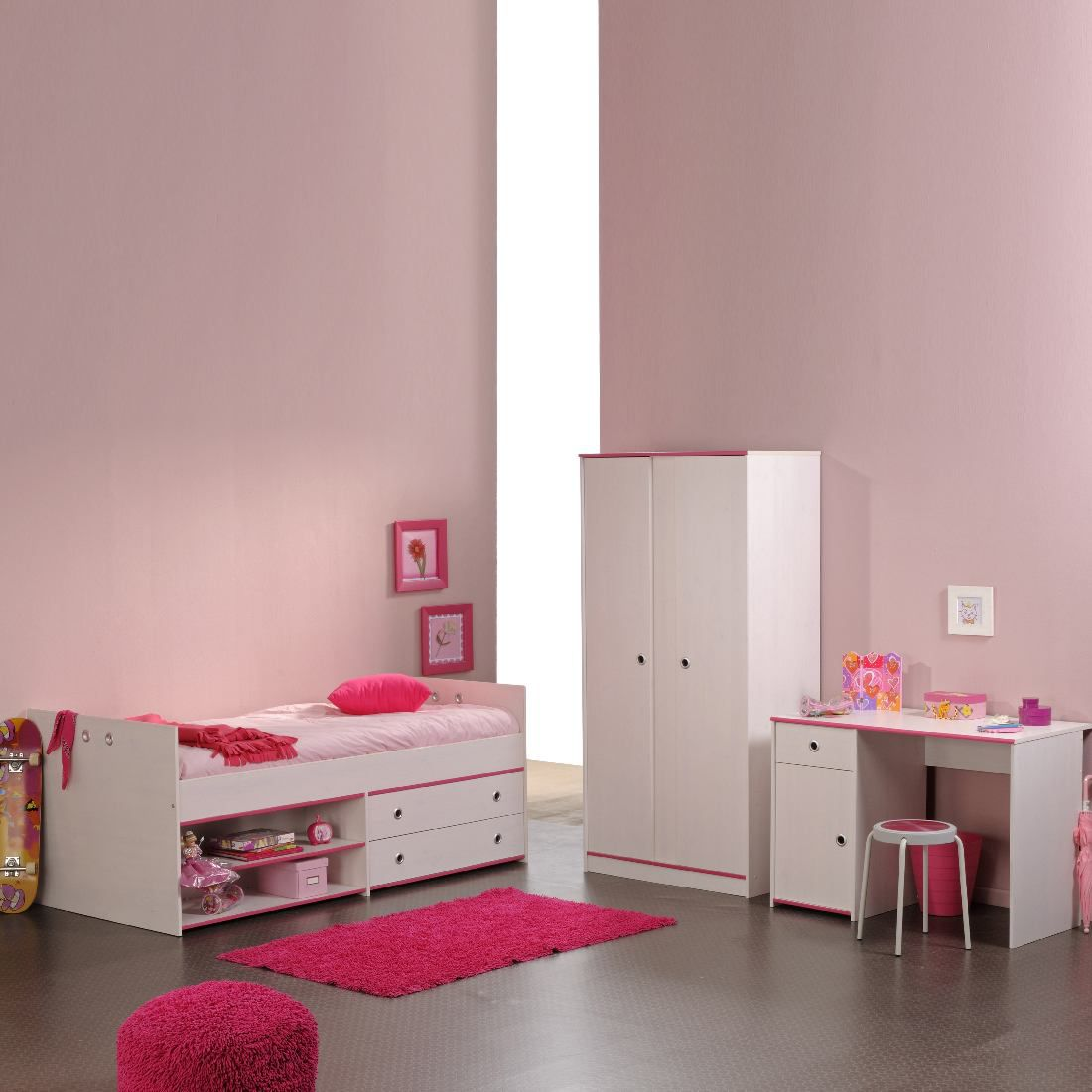 kinderzimmer set m dchen. Black Bedroom Furniture Sets. Home Design Ideas