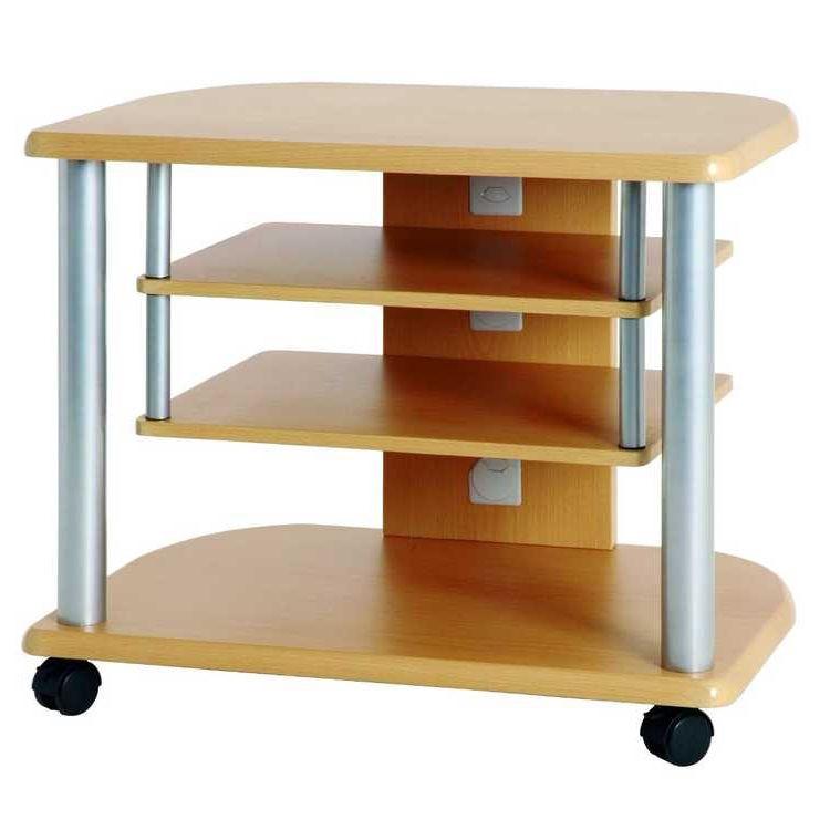 Carrello TV Spotlight - Aluminio/Effetto faggio, Home Design