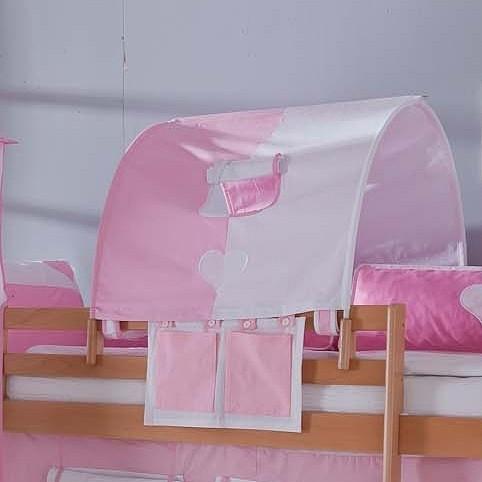 Stofftunnel rosa/weiß Relita - 1-er - Baumwolle, Relita