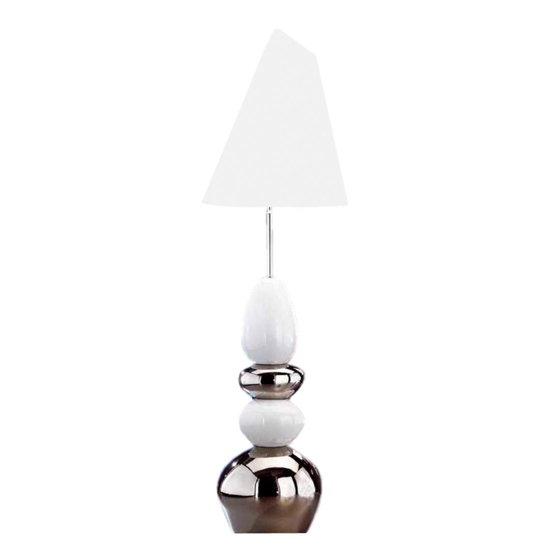 EEK A++, Tischleuchte Stone - Weiß/Silberfarbig, Honsel