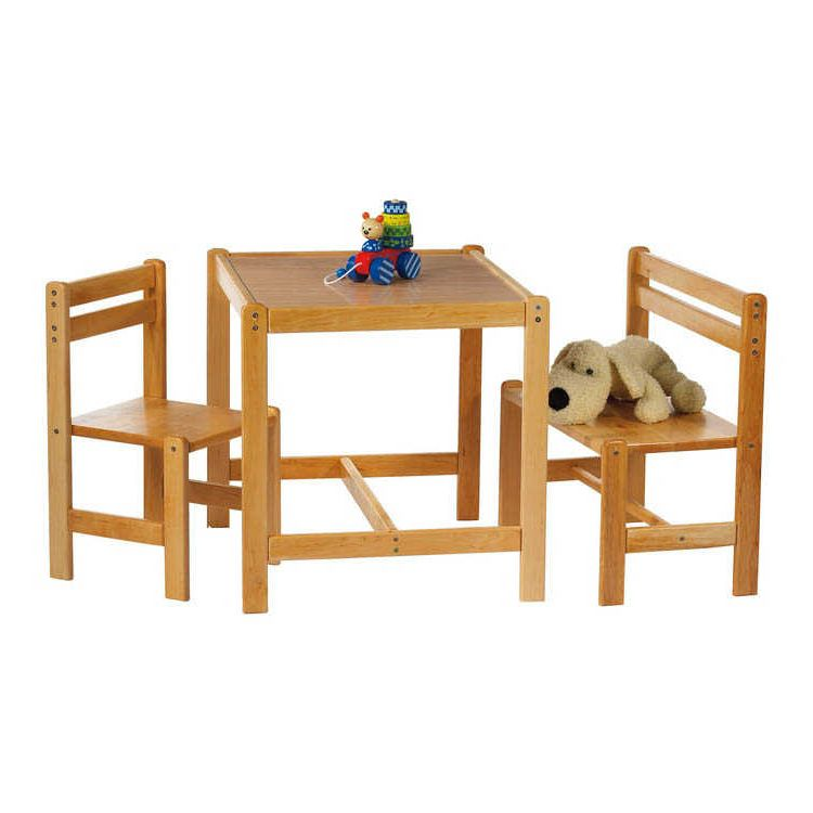 Home 24 - Table enfant sven - 3 éléments, pinolino
