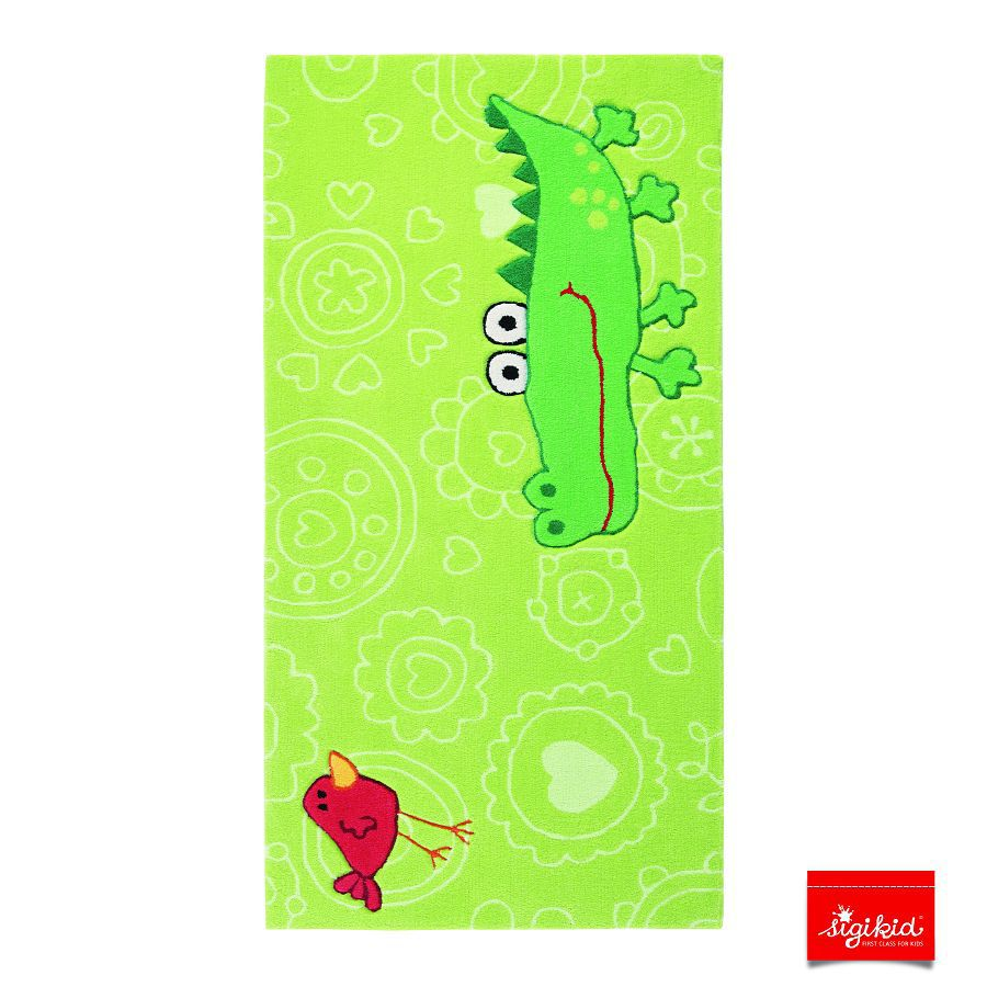 Tapijt Sigikid Crocodile Happy Zoo Small Size groen   90x160cm_ Sigikid