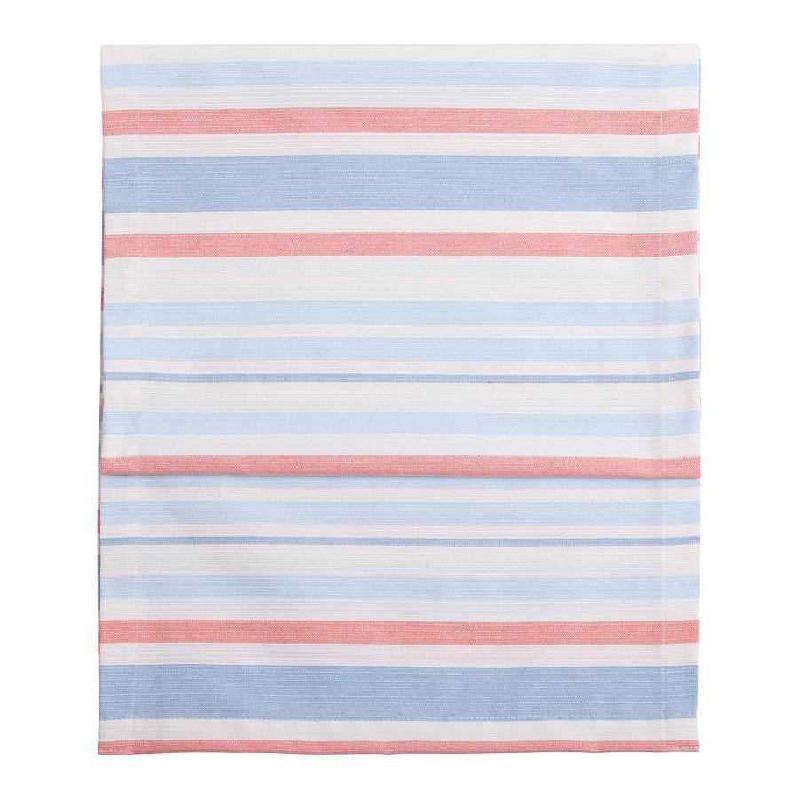 Tafelloper Fino - 40 x 150 cm katoen-polyester gestreept blauw, twentyfour