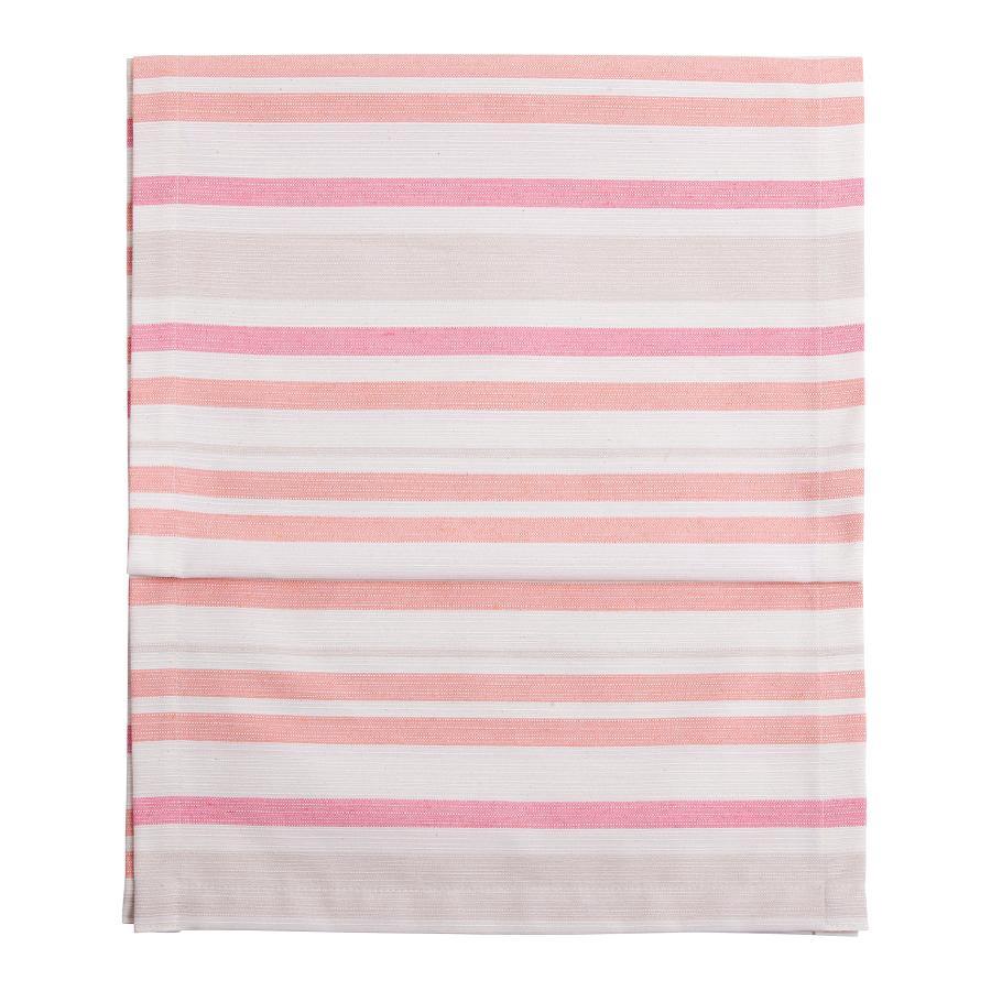 Tafelloper Fino - 40 x 150 cm katoen-polyester gestreept roze, twentyfour
