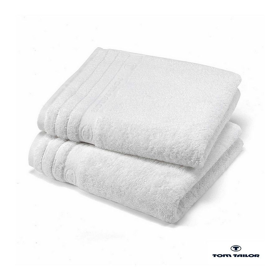 Home 24 - Linge de toilettetom tailor - blanc - essuie-mains : 16 x 22 cm, tom tailor