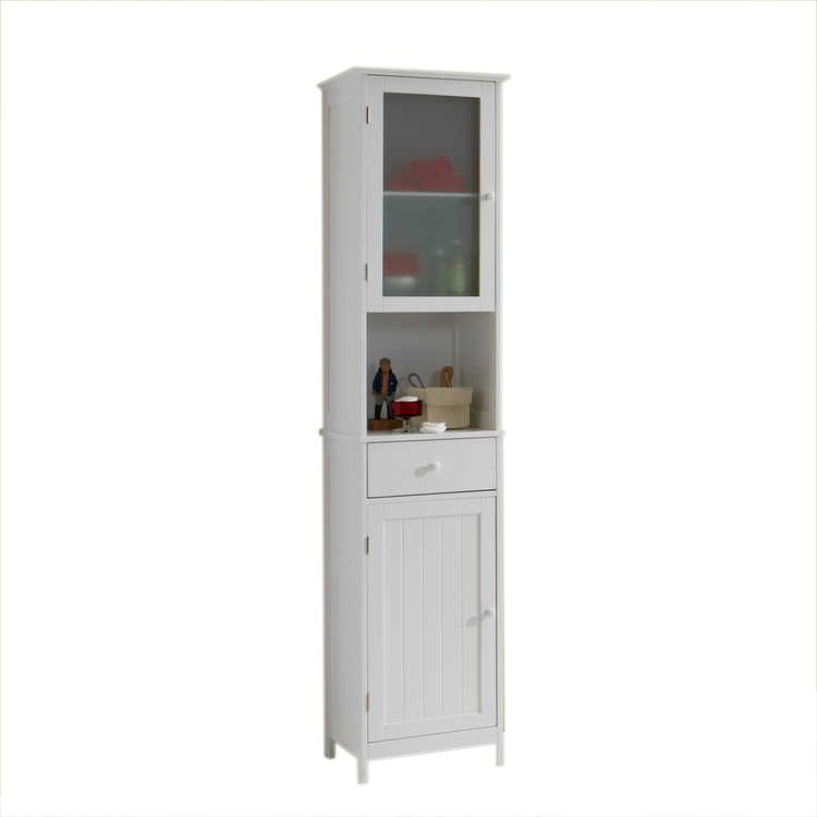Armoire colonne Turin - Blanche, mooved