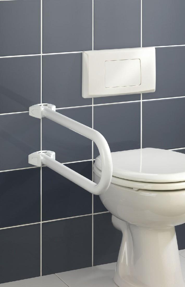 Toiletbeugel - inklapbaar, wit, Wenko