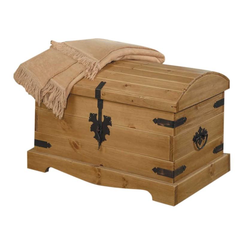 Kist met ronde deksel Zacateca - massief grenenhout, Maison Belfort