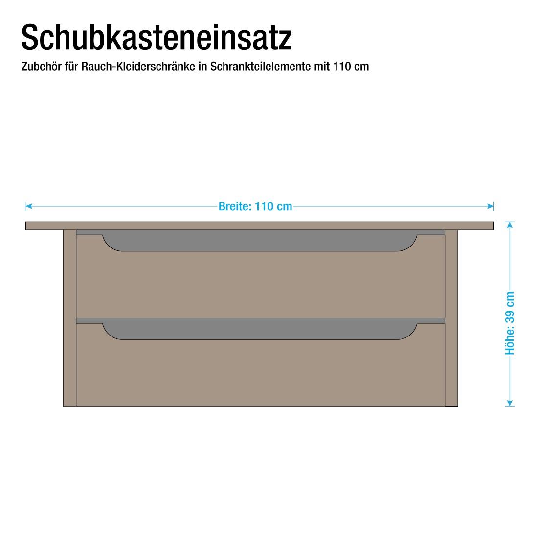 Inserto cassettiera da 110 cm Rauch Pack's - Per armadi di profondità 54-62 cm - (con 3 cassetti), R