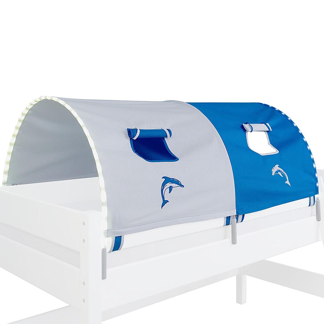 EEK A+, 2-er Stofftunnel Delfin - Weiß, Relita