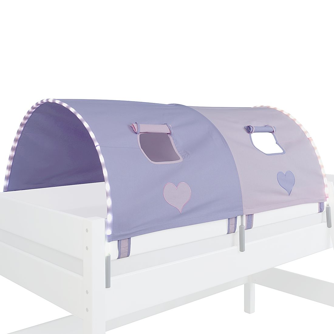 EEK A+, 2-er Stofftunnel Herz - Violett/Rosa, Relita