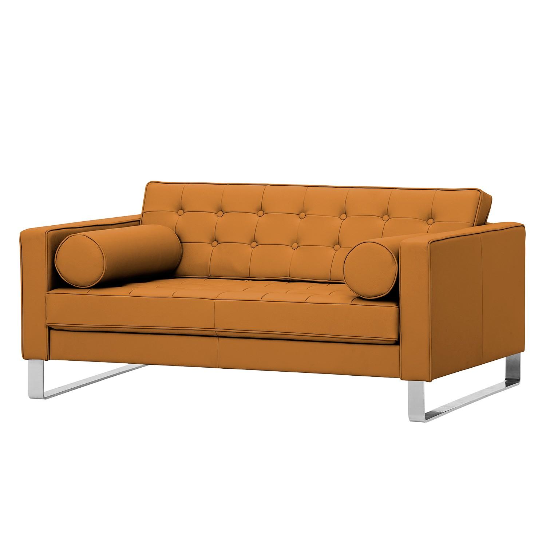 Sofa Chelsea (2-Sitzer) - Echtleder - Kufen - Echtleder Gad Cognac I